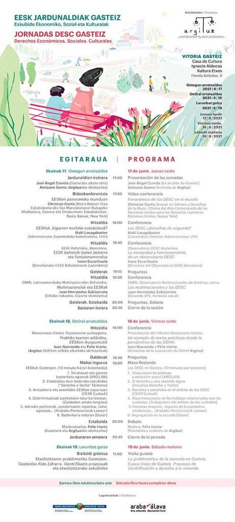 Jornadas DESC en Vitoria - Gasteiz
